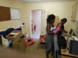 Cleaning the offices upstairs at the Coventry West Indian Centre